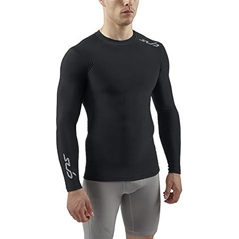 Sub Sports Uomo Cold Maglietta a compressione Biancheria intima tecnica Base Layer, a maniche lunghe, Nero (Schwarz), S