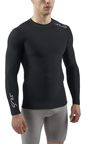 Sub Sports Herren Cold Kompressionsshirt Thermisch Funktionswäsche Base Layer langarm Schwarz, S -