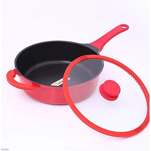 Saucepan Smokeless Wok Non-Stick Frying Pan Gas Cooker Universal Reinforced Induction Non-Stick Frying Pan Mandarin Wok