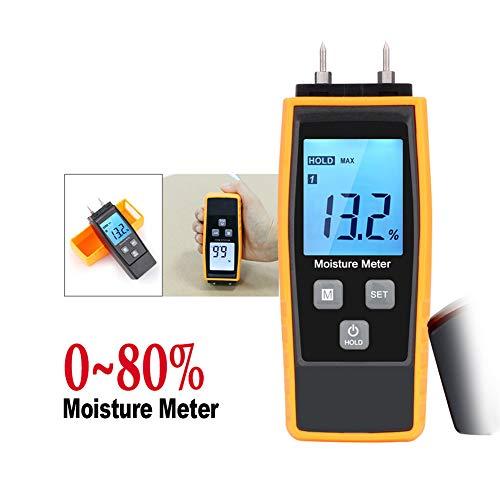 WSN Medidor de Humedad Madera Digital,Detector de Humedad portátil con medidor de...