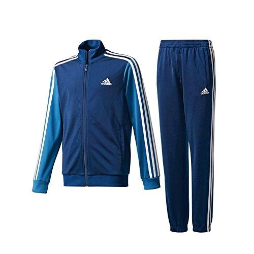 Adidas ce8597, tuta bambino, multicolore (blu notte/blu acceso/bianco), 7-8 anni (taglia produttore: 128)