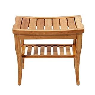 soges Bathroom stool Solid wood stool Bath stool Non-slip waterproof Shower stool 2 tiers KS-HSJ-04