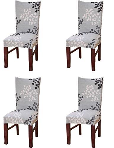 4×elasticizzato copertura della sedia rimovibile lavabile stretch sedia da pranzo della copertura copertura slipcovers per matrimoni compleanni banquette