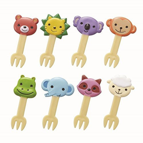 Torune 8 Piece Bento Decoration Food Picks Forks Cute Animal for Lunch...