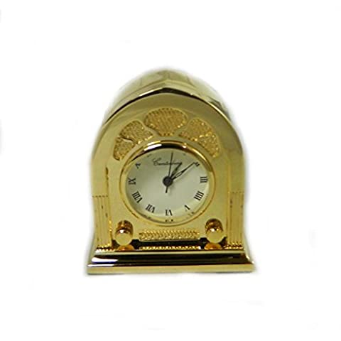 Carcasa en miniatura Vintage Radio nuevo Coleccionable de tono de oro reloj caja de regalo