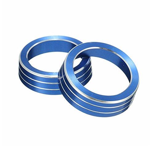 Viviance 2Pcs A/C Aluminum Control Switch Ignition Ring Knob Cover Für Honda Civic 16-17 - Blau (Felgen 17 Civic)