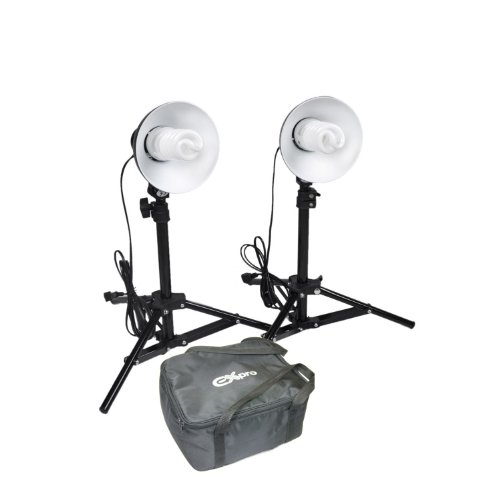 Ex-Pro 240V 35W Photo Professional Midi Pro Day Light Set Continuous Lighting Kit with Stands for Photo Tents