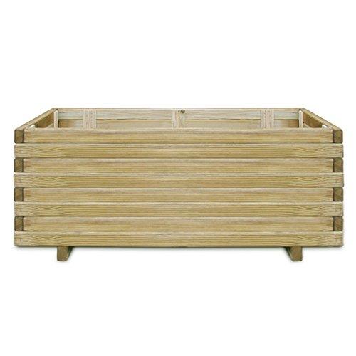 Festnight fioriere piantatore rettangolare in legno 100 x 50 x 40 cm