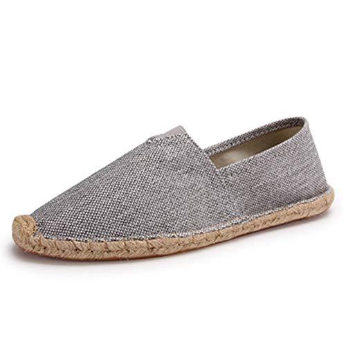 Frauen Retro Vintage Casual Espadrilles Sommer Slip On Hanf Gestreiften Applikationen Runde Zehe Damen Atmungsaktive Schuhe
