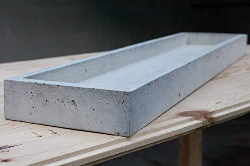 Schale Beton | schaleins - BETONIDEE | moderne große Obstschale, Wohn-Küchen-Deko, echte Beton-Schale 70 cm x 16 cm -