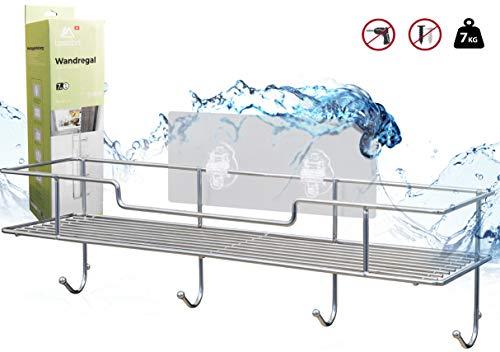 Wandregal ohne bohren aus Edelstahl rostfrei   Gewürzregal Duschregal Badregal Duschablage Badewanne ablage