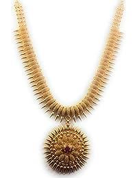 004e728fa3 SUKRA GOLD 1 Gram Micro Gold Plated Traditional Designer Fashion Jewellery  Stone Necklace for Women &