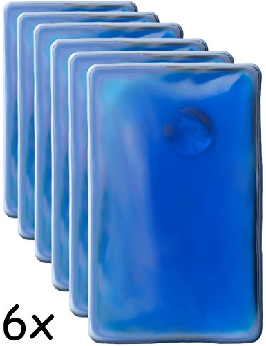HomeTools.eu® - 6X Wärme-Kissen, Taschen-Wärmer, Gel-Kissen, Hand-Wärmer, Knick-Kissen, selbst-erwärmend, lang anhaltend, mehrfach verwendbar, 10 x 6.5 cm, blau, 6er Set