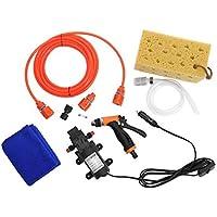 Delicacydex Bomba de Agua de Alta presión de 12 V Bomba de Agua Auto eléctrico Lavado automático Kit de Herramientas Autoayuda Lavadora de Autos