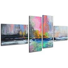 100% LABOR A MANO + certificado / 160x75 cm / Aurora polar 2 / El cuadro dibujado con pinturas acrílicas / cuadros sobre el lienzo con bastidor de madera / cuadro dibujado a mano / montaje cómodo sobre la pared / Arte contemporáneo