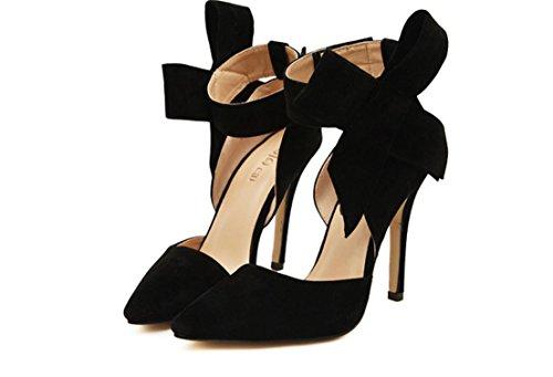 YCMDM FEMME Chaussures Femmes Coller Chaussures à Talons Chaussures Sandales Mode Simple Chaussures Printemps Eté Black