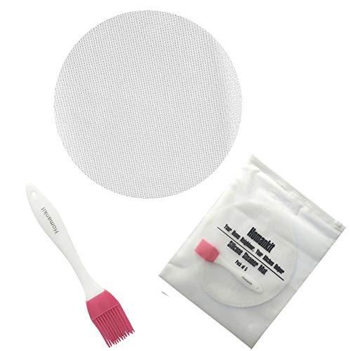 Homankit 5 unidades Dim Sum Vaporera papeles/silicona Steamer Alfombrilla Para Vaporera de bambú/Vaporera inserciones | 25 cm de diámetro | reutilizable, flexible, antiadherente, fácil de limpiar | saludable Steamer Mats, sin BPA y FDA y LFGB