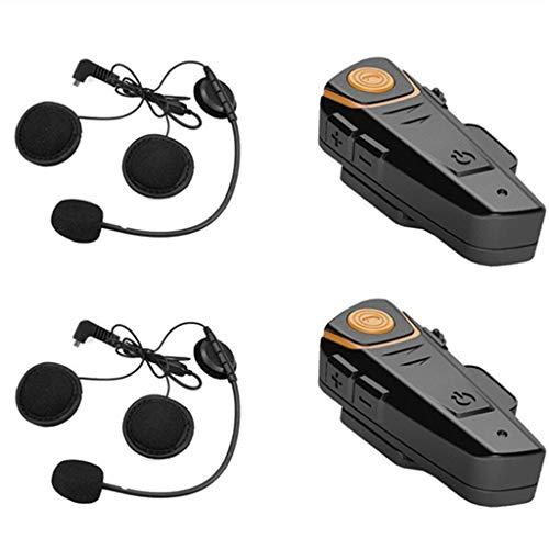 Helm Bluetooth Headset, Nourich 1000m Motorrad Helm Lautsprecher Motorrad Kommunikationssystem Stereo Headset In-Ear Sport Noise Cancelling Ohrhörer Kopfhörer (schwarz) Kommunikationssysteme