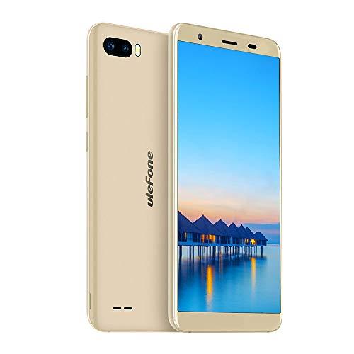 Ulefone S1 Günstig Handy ohne Vertrag (13.97 cm (5.5 Zoll) Metallrahmen, 8MP+5MP+5MP Kamera, 8GB Speicher, Android 8.1 Go Edition, Dual SIM Handy unter 100, Face ID) Gold (Entsperren Ohne Vertrag-handys)
