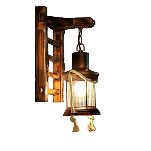 ZQ Retro Nostalgie Wand Lampe Korridor Innenhof Kerosin Glas Pferd Lampe
