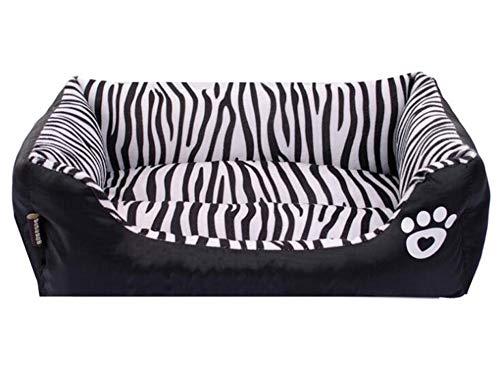 Black Manba Cama Perros Modelo De Cebra Perrera Gato
