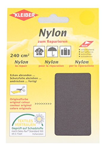 Kleiber Selbstklebendes Reparaturmaterial aus Nylon, grau