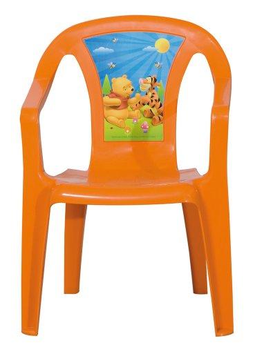 Progarden 46219 Kinder Stapelsessel Sedia Baby \'Winnie Pooh\', Vollkunststoff orange, 35 x 36,5 x 51,5 cm
