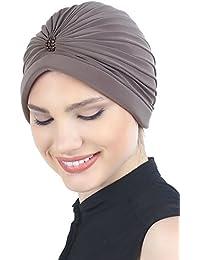 Deresina Headwear Pañuelos para Quimioterapia Turbante con Perlas Frente