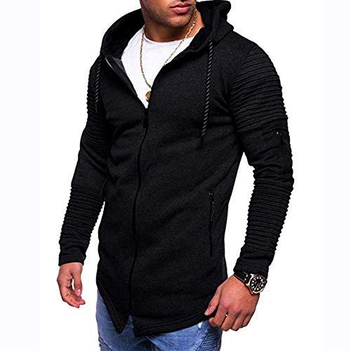 zningck Men es Herbst Solid Color Sweatshirt, lange Ärmel O-Neck Hoodie Top Outwear Bluse