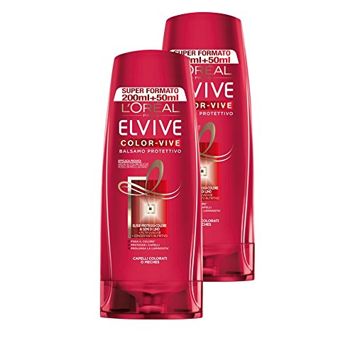 LOréal Paris Elvive Color Vive Balsamo Protettivo per Capelli Colorati o Mèches 2 x 250 ml