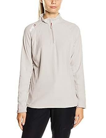 Geographical Norway Damen Sweatshirt Talmud Lady Half Zip, Grau (Light Grey), Gr. Small (Herstellergröße: 1)