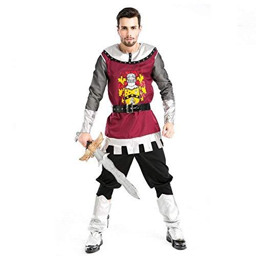 Krieger's Freundin Kostüm - YyiHan Halloween Kostüm, Ritter Kostüm römischen Gladiator Kostüm männlichen Uniform Krieger Anzug Cosplay Make-up Halloween-Parteikostüm Bühnenaufführung Kostüm