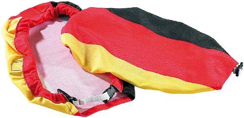infactory EM-Fan-Artikel: 2er-Set Überzieher Deutschland für Auto-Außenspiegel (Deutschland Fan Artikel)