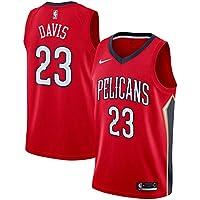 KQOCNBA NBA Pelicans Anthony-Davis 23 Swignman Men Jersey (Rojo, L)