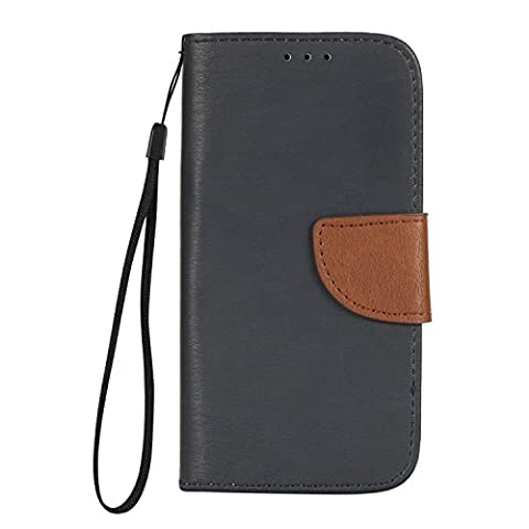 For Samsung Galaxy A7 2017 Case,Cover A7 2017,Cozy Hut [Wallet Case] Premium Soft PU Leather Notebook Wallet Retro Design Case with [Dual Card Slots][Metal Magnetic Closure] [Kickstand] Stand Wallet Card Holder Protective and ID Slot Slim Flip Protective Skin Case Cover for Samsung Galaxy A7 2017 - Dark blue /
