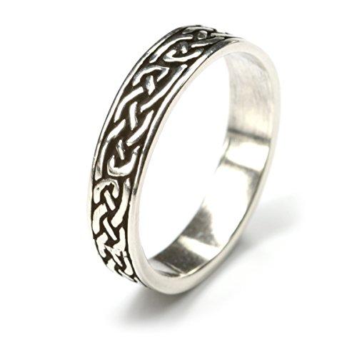 keltischer Ring große Größe 925 Silber Bandring Herrenring Damenring Silberring Ringschiene 5mm Gr 72