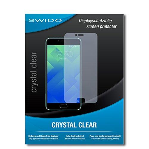 SWIDO Bildschirmschutz für Meizu M5 Note [4 Stück] Kristall-Klar, Hoher Härtegrad, Schutz vor Öl, Staub & Kratzer/Schutzfolie, Bildschirmschutzfolie, Panzerglas Folie