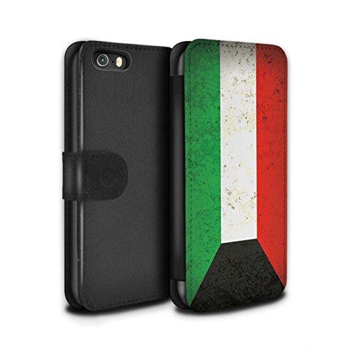 STUFF4 PU-Leder Hülle/Case/Tasche/Cover für Apple iPhone 8 / Georgien/Georgisch Muster / Asien Flagge Kollektion Kuwait