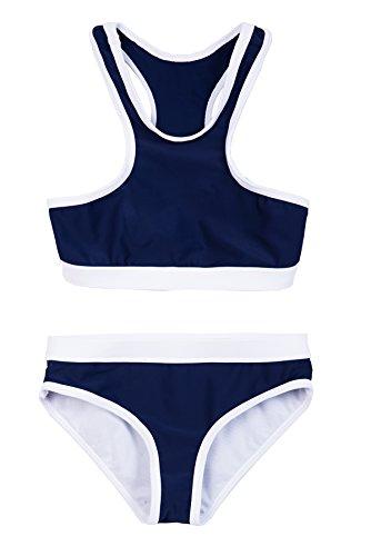La-V Mädchen Bikini Zweiteilig Sport Navy/Größe 128/134