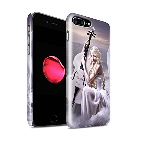 Officiel Elena Dudina Coque / Clipser Brillant Etui pour Apple iPhone 7 Plus / Mélodie du Silence Design / Réconfort Musique Collection Violoncelle/Nuages