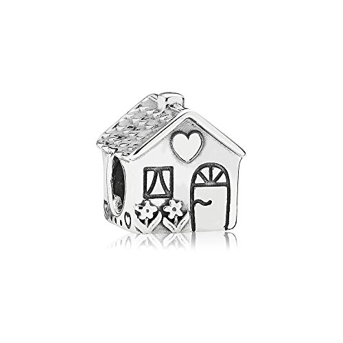 """Pandora Moments Charm Kleines Haus \""""Home Sweet Home\"""" Sterling Silber 791267"""