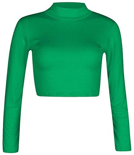 Lozana Paris Top à Manches Longues - Uni - Manches Longues - Femme green