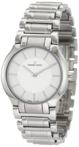 Pierre Petit Laval P-799F - Reloj analógico de cuarzo para mujer, correa de acero inoxidable color plateado