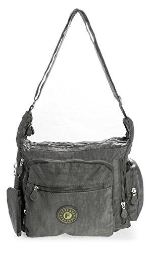 Big Handbag Shop, Borsa a tracolla donna One Grigio (grigio)