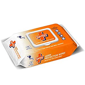 Savlon Germ Protection Multipurpose Thick & Soft Wet Wipes with Fliptop lid - 72 Wipes I Use on Hands, Body and Surfaces