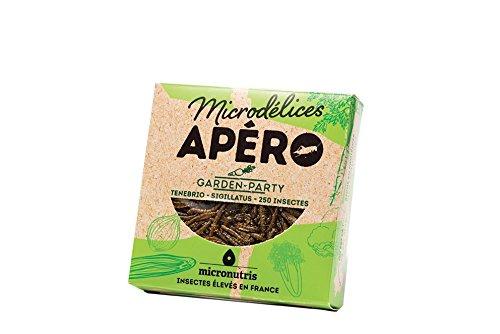 Micronutris Insectes comestibles - Apéro 250 Garden Party mélange de grillons et vers de farine