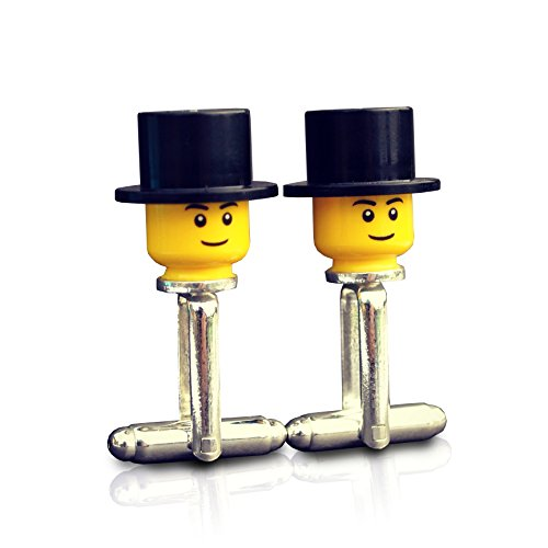 LEGO ® Top Hat Cufflinks Wedding, Groom, Best