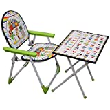 Foldable Study Table Chair Set For Kids Desk Green