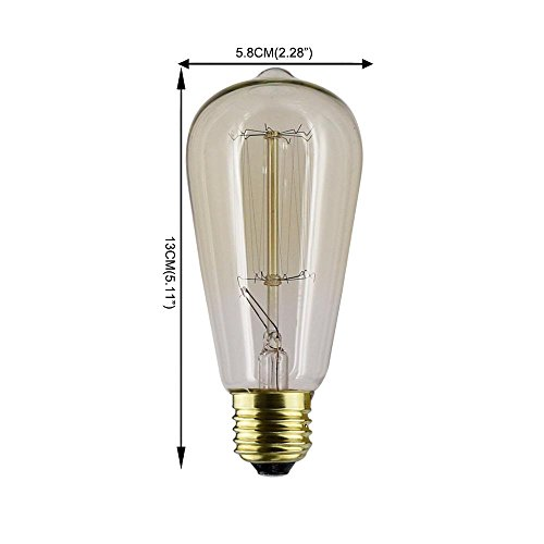 PAO C35 E14 40W 110V-240V Bombilla de vela de tungsteno de nostalgia retro Luz cálida 1PC