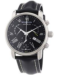 Zeppelin Herren-Armbanduhr XL LZ127 Transatlantik Chronograph Quarz Leder 76822
